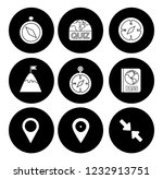map pin icons set   navigation... | Shutterstock .eps vector #1232913751