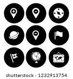 map pin icons set   navigation... | Shutterstock .eps vector #1232913754