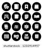 library books icons set  ... | Shutterstock .eps vector #1232914957