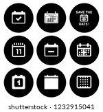 calendar icons set   time  ... | Shutterstock .eps vector #1232915041