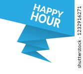 happy hour sign label. happy... | Shutterstock .eps vector #1232916271