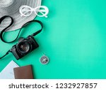 top view travel concept with... | Shutterstock . vector #1232927857