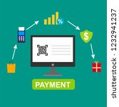 e payment banner web icon for... | Shutterstock .eps vector #1232941237