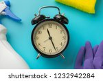 cleaning time with cleaning...   Shutterstock . vector #1232942284