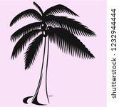 coconut tree vector silhouette... | Shutterstock .eps vector #1232944444