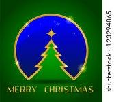 christmas decoration on green... | Shutterstock .eps vector #123294865