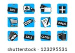 e commerce and shopping icon set | Shutterstock .eps vector #123295531