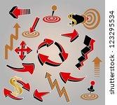 set of arrows  for web design | Shutterstock .eps vector #123295534