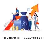 investment management. bank... | Shutterstock .eps vector #1232955514
