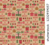 holidays seamless pattern.... | Shutterstock .eps vector #1232959057