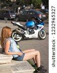 Red Hair Girl On Motobike....