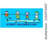 street children s day | Shutterstock .eps vector #1232972437