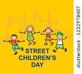 street childreen's day  vector | Shutterstock .eps vector #1232978407