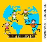 street children's day | Shutterstock .eps vector #1232987737
