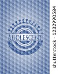 adolescent blue badge with... | Shutterstock .eps vector #1232990584