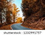 curving roads in a autumn... | Shutterstock . vector #1232991757