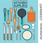 kitchen utensils set  | Shutterstock .eps vector #1233006457