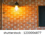 brick block and lamp of a... | Shutterstock . vector #1233006877