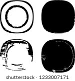grunge post stamps collection ... | Shutterstock .eps vector #1233007171
