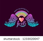 happy valentine's day with... | Shutterstock .eps vector #1233020047