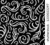 frosty window pattern  black... | Shutterstock .eps vector #1233022297