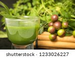 ceylon organic herbal juices | Shutterstock . vector #1233026227