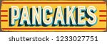 vintage style vector metal sign ... | Shutterstock .eps vector #1233027751