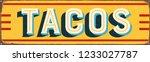 vintage style vector metal sign ...   Shutterstock .eps vector #1233027787
