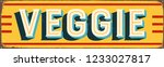 vintage style vector metal sign ... | Shutterstock .eps vector #1233027817
