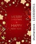 christmas bright background... | Shutterstock .eps vector #1233030511