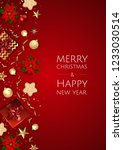 christmas vector background....   Shutterstock .eps vector #1233030514