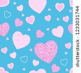 heart pattern seamless...   Shutterstock .eps vector #1233031744
