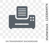 fax machine icon. fax machine... | Shutterstock .eps vector #1233044974