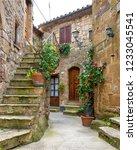 pitigliano village  tuscany ...   Shutterstock . vector #1233045541