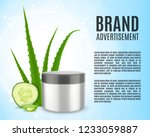 aloe and cucumber. cosmetic ads ... | Shutterstock .eps vector #1233059887