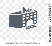 mall icon. mall design concept... | Shutterstock .eps vector #1233060937