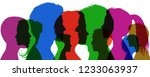 group young people. profile... | Shutterstock .eps vector #1233063937