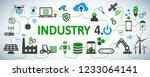 industry 4.0 infographic... | Shutterstock .eps vector #1233064141