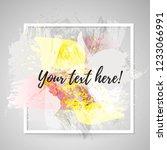 vector figured ink and brush... | Shutterstock .eps vector #1233066991