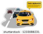 Taxi And Taxi Driver Driving O...