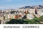 view of the city of genoa in... | Shutterstock . vector #1233088411