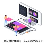 developing mobile app concept.... | Shutterstock .eps vector #1233090184