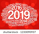 2019 happy new year and...   Shutterstock .eps vector #1233090937