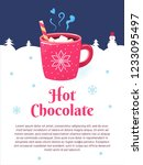 winter season poster with red... | Shutterstock . vector #1233095497