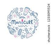 manicure pedicure circle... | Shutterstock . vector #1233095524