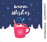 warm wishes. merry christmas... | Shutterstock . vector #1233095557