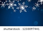 winter abstract snowflake...   Shutterstock .eps vector #1233097441