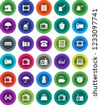 white solid icon set  washboard ... | Shutterstock .eps vector #1233097741