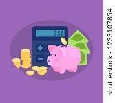 personal finance concept ... | Shutterstock .eps vector #1233107854