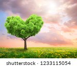 green spring landscape with... | Shutterstock . vector #1233115054